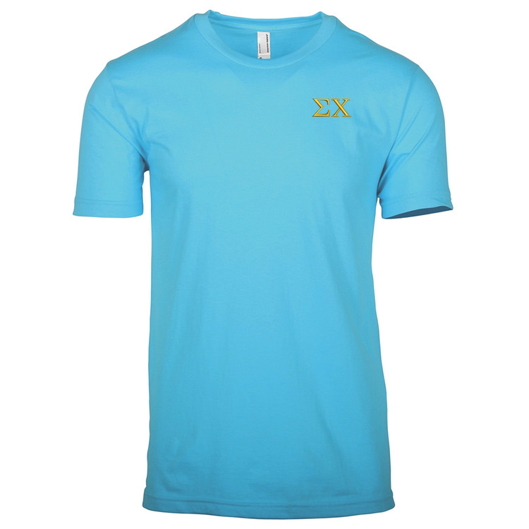 Fraternity sorority embroidered shirts greek embroidery for Frat pocket t shirts