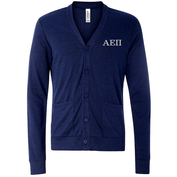 Fraternity & Sorority Embroidered Canvas Triblend Cardigan