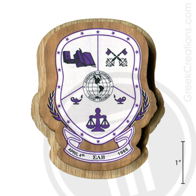 Sigma Lambda Beta Large Raised Wooden Crest
