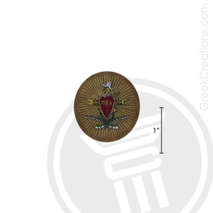 Pi Kappa Alpha Small Raised Wooden Crest
