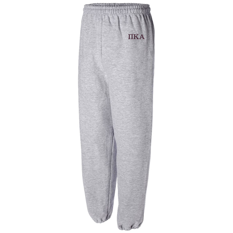 Sorority & Fraternity Embroidered Gildan Cuffed Sweatpants