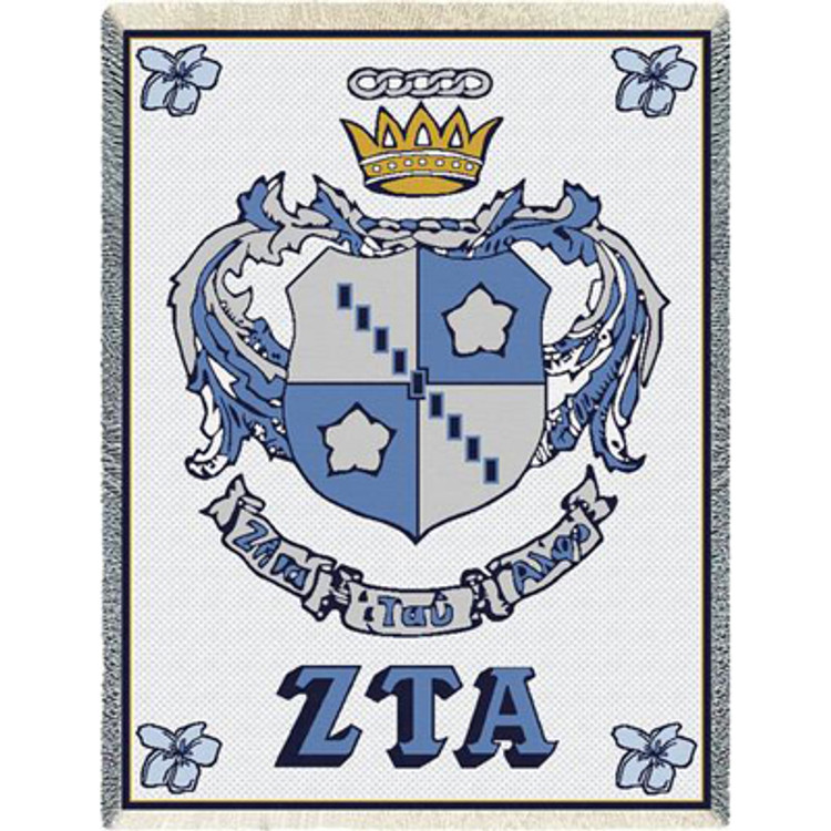 Zeta Tau Alpha Crest Afghan