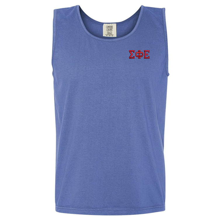 Fraternity Embroidered Comfort Colors Men's Tank Top