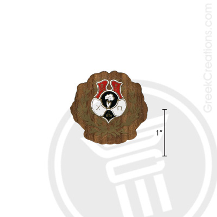 Chi Omega Small Raised Wooden Crest