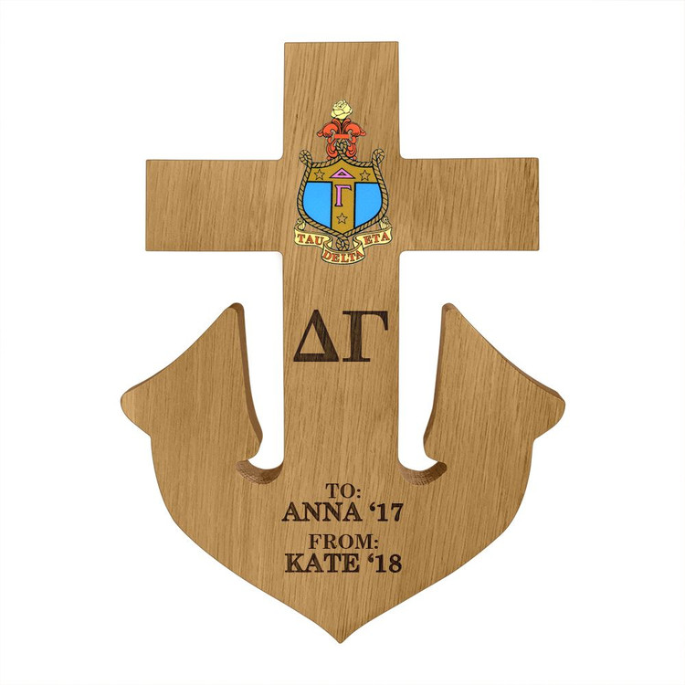 Delta Gamma Anchor Paddle Plaque