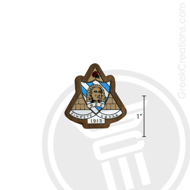 Phi Sigma Sigma Small Raised Wooden Crest