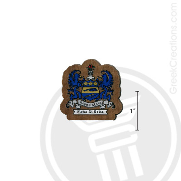 Alpha Xi Delta Small Raised Wooden Crest