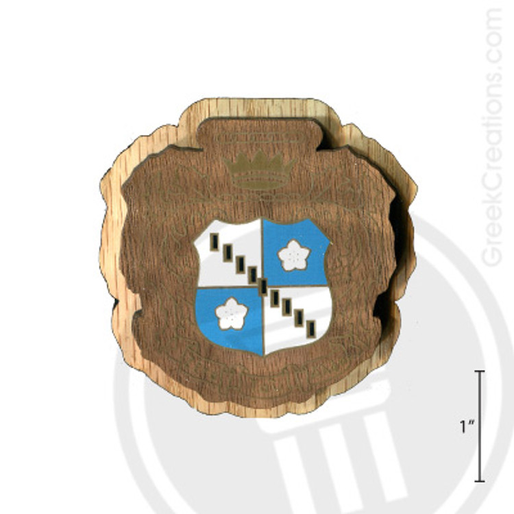Zeta Tau Alpha Large Raised Wooden Crest