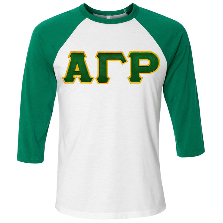 Fraternity & Sorority Lettered American Apparel Raglan T-Shirt