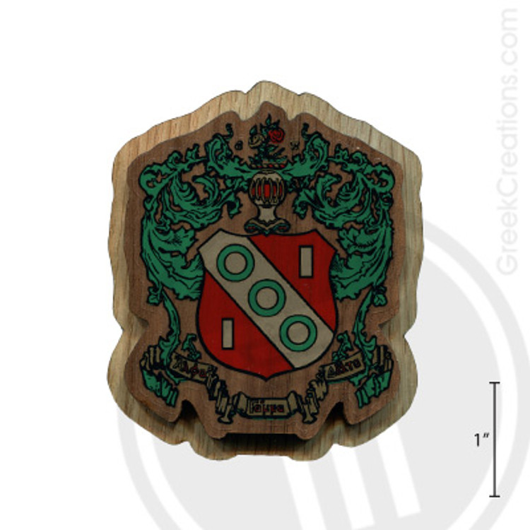 Alpha Gamma Delta Large Raised Wooden Crest