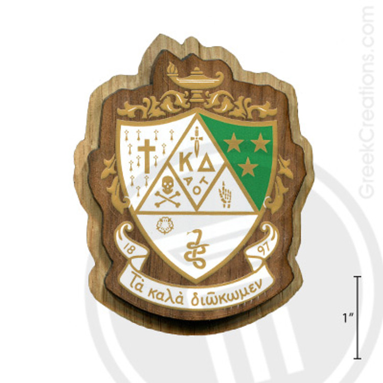 Kappa Delta Large Raised Wooden Crest
