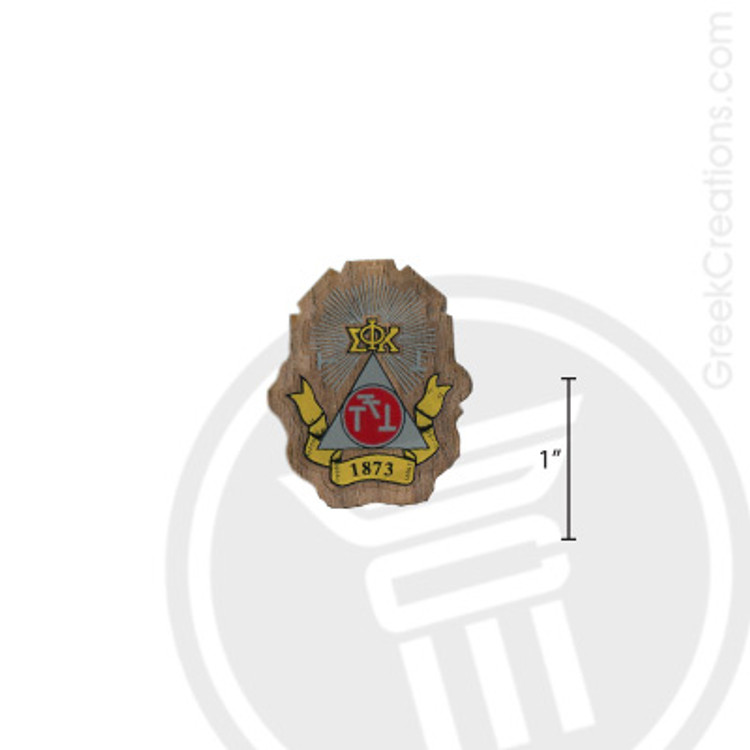 Phi Sigma Kappa Small Raised Wooden Crest