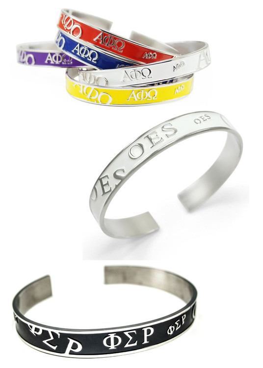 Sorority Bangle Cuff Bracelet in Colors
