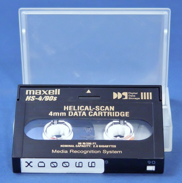 MAXELL HS-4/90S Helical- Scan 4mm Data Tape Cartridges Digital Storage Media