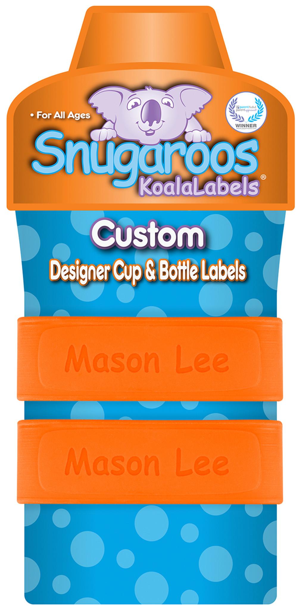 Outrageous Orange 3d Koala Labels