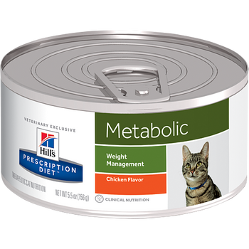 Hill's Feline Metabolic Chicken Flavor (24 x 5.5 oz. Cans)