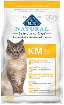BLUE Natural KM Kidney + Mobility Support Feline Dry (7 lbs)