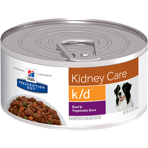 Hill's Canine k/d Beef & Vegetable Stew (24 x 5.5 oz. Cans)