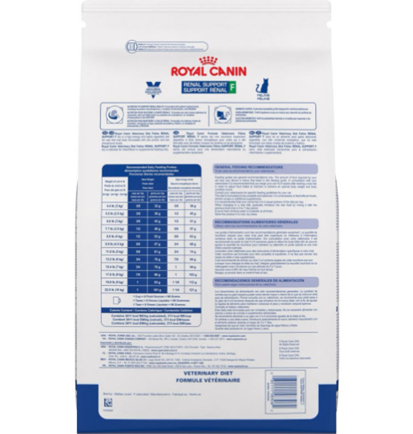 Royal Canin Feline Renal Support F Back