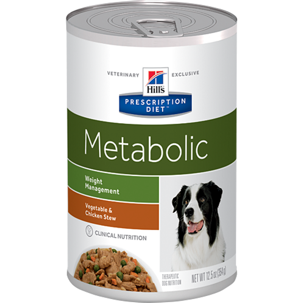 Hill's Canine Metabolic Vegetable & Chicken Stew (12 x 12.5 oz. Cans)