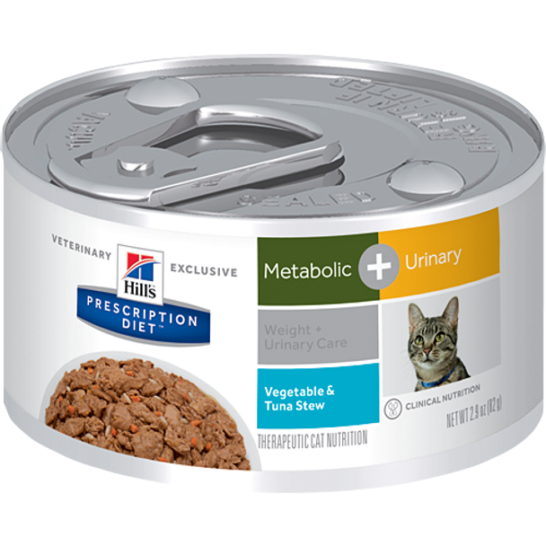 Hill's Feline Metabolic + Urinary Care Vegetable & Tuna Stew Cans (24 x 2.9 oz.)