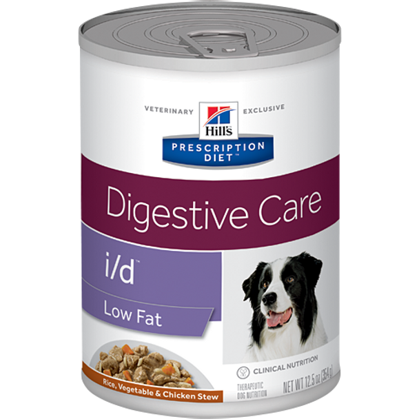 Hill's Canine i/d Low Fat Rice, Vegetable & Chicken Stew (12 x 12.5 oz. Cans)