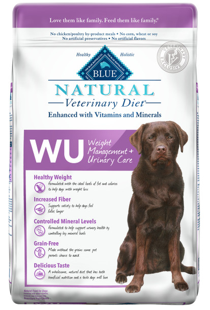 BLUE Natural WU Weight Management + Urinary Care  Canine Dry (22 lbs)