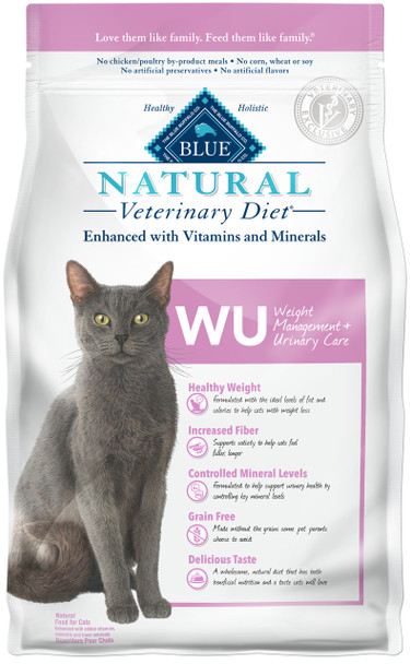 BLUE Natural WU Weight Management + Urinary Care  Feline Dry (6.5 lbs)