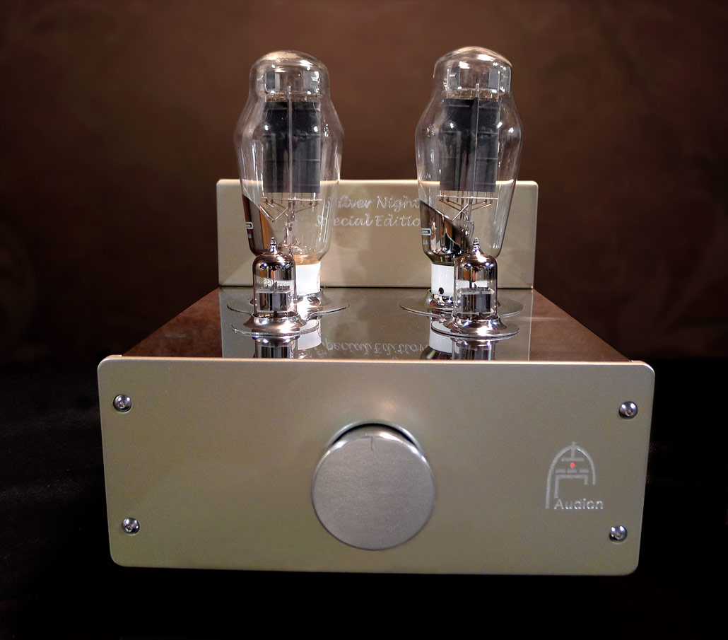 Audion Silver Night Special Edition 300B Stereo Hard Wired Amplifier. Now at True Audiophile. Exclusive U.S. Importer for Audion tube equipment.