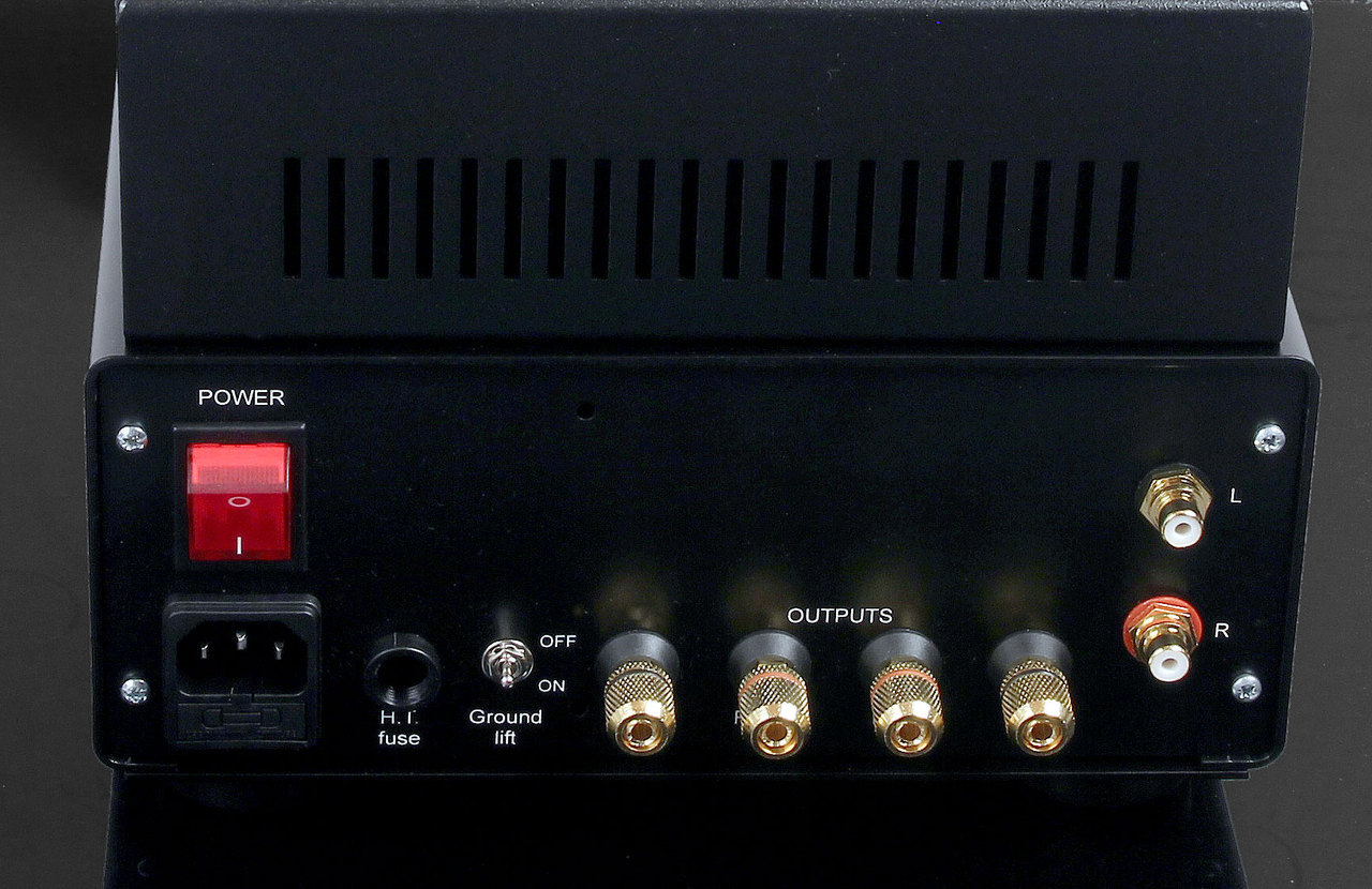 Rear Panel. Audion Silver Night PX25 Anniversary Stereo Hard Wired SET Amplifier. At True Audiophile.