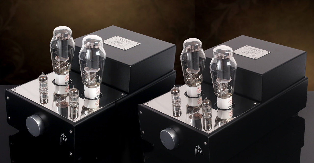Audion Silver Night 300B Anniversary Parallel Single Ended Hard Wired Mono Blocks. Now at True Audiophile. Exclusive U.S. Importer for Audion tube equipment.