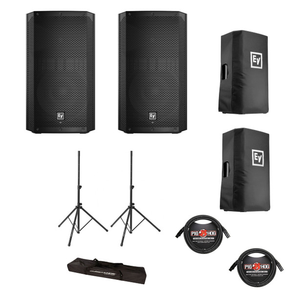 Electro-Voice ELX200-12P Powered Speaker Bundle