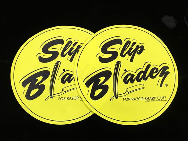 Slip Bladez Yellow And Black Blade DJ Slip Mats
