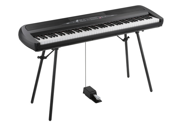 Korg SP280BK 88 Key Digital Piano with Stand and Pedal - Black