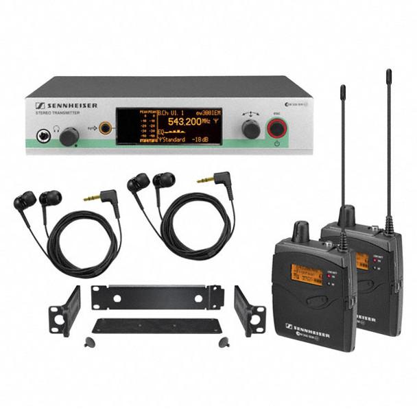 Sennheiser EW300-2IEMG3-B In-ear Monitoring System