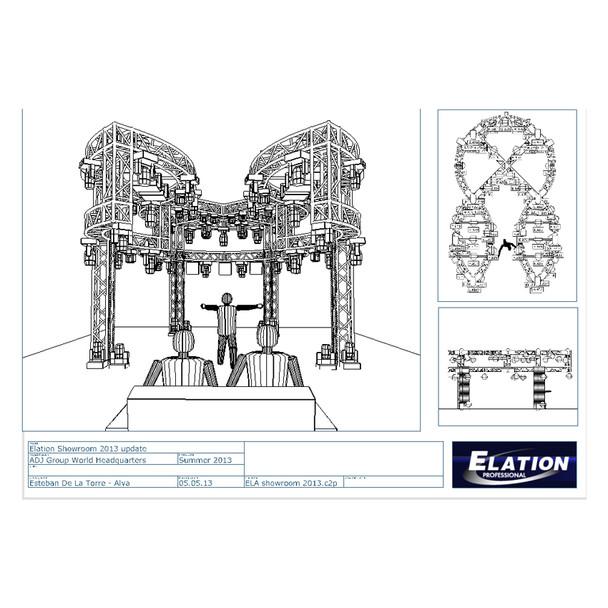 Elation CAP275 Professional Capture Polar Extended Lighting Design Software