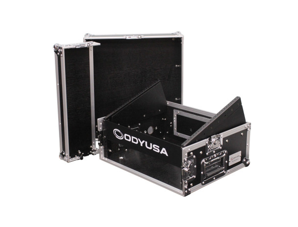 Combo Rack with 8U Top Slant Rack, 2U Bottom Vertical Rack