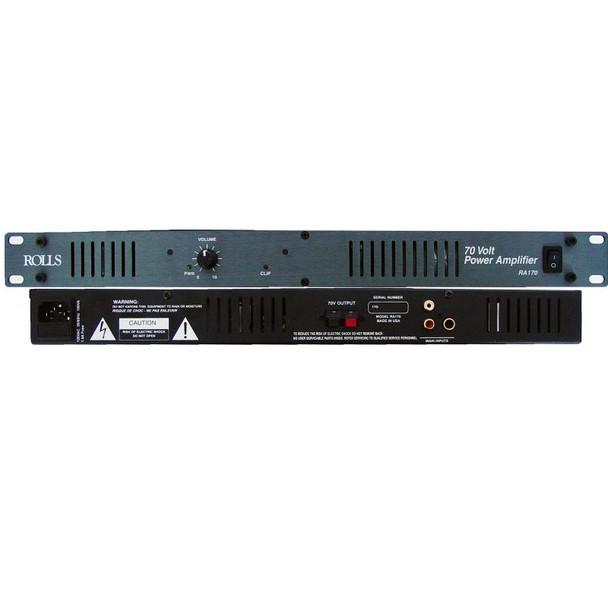 RA170 70 Watt 70 Volt Power Amp 1U