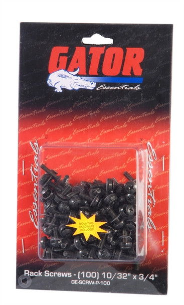 Gator Cases GRW-SCRW100 Rackworks 10/32-inch x 3/4-inch Rack Screw (100 Pack)
