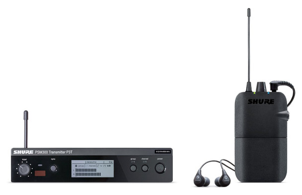 Shure P3TR112GR-G20 PSM 300 Stereo Personal Monitor System w/IEM (G20: 488-512 MHz)