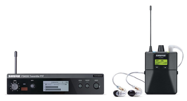 Shure P3TRA215CL-G20 PSM 300 Stereo Personal Monitor System w/IEM (G20: 488-512 MHz)