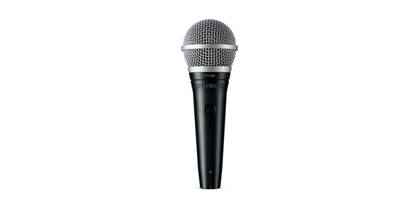Shure Cardioid dynamic vocal microphone - XLR-QTR cable