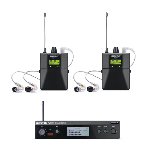 Shure PSM300 In-Ear Monitoring System Twin Pack Pro