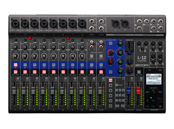Zoom LiveTrak L-12 Multi-Track Recorder/Mixer with Built-In Interface