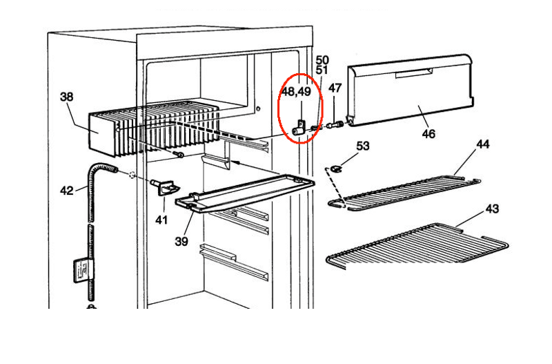 Dometic Refrigerator Spring Casing RH 2002236012