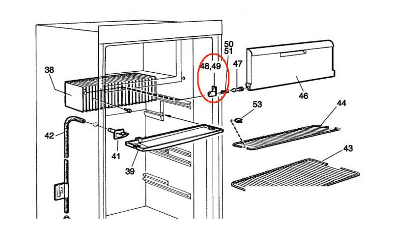 Dometic Refrigerator Spring Casing LH 2002236004