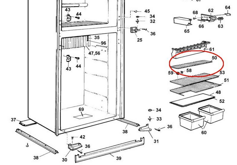 Dometic Fridge Freezer Shelf 2002652416 The Guy