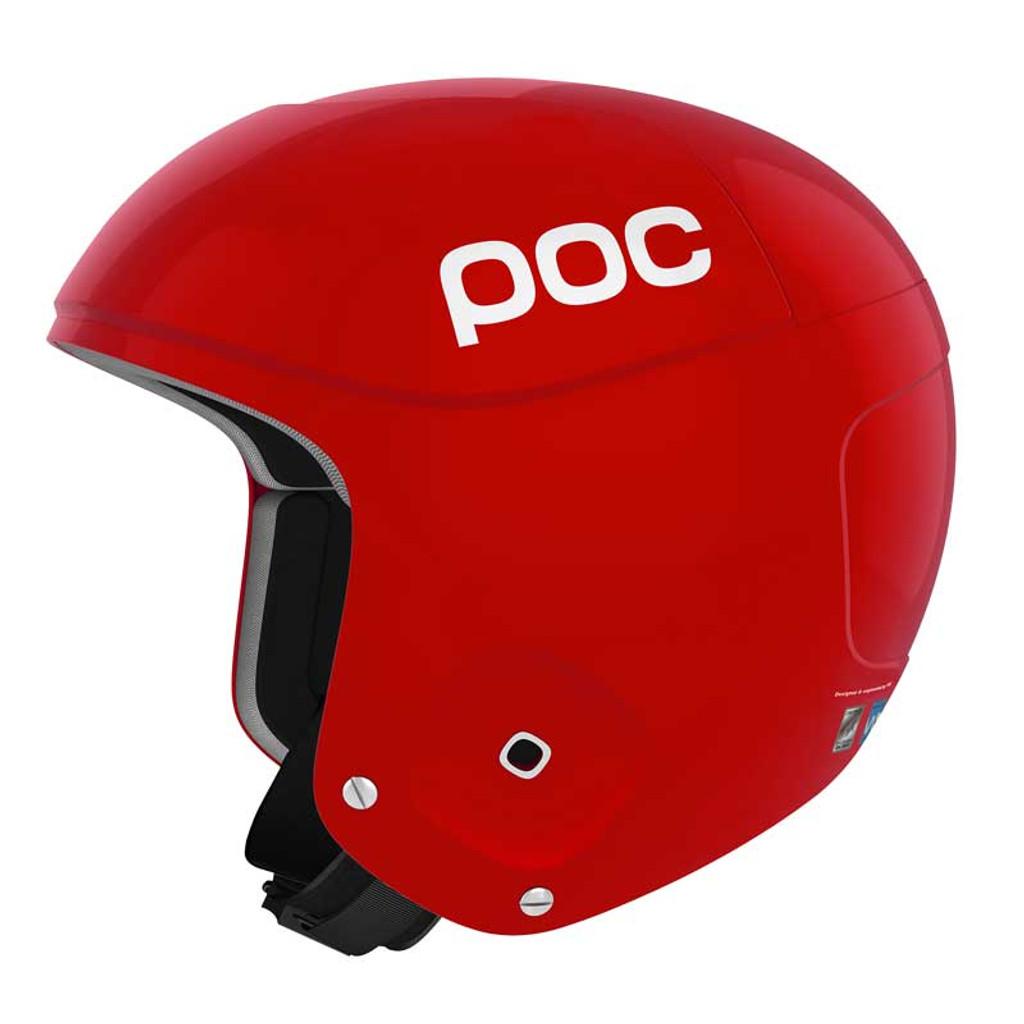 POC Skull Orbic X Helmet FIS Legal Ski Helmet in Bohrium Red