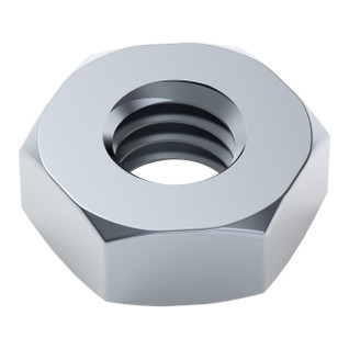2811-0004-0007 - 2811 Series Zinc-Plated Steel Hex Nut (M4 x 0.7mm, 7mm Hex) - 25 Pack