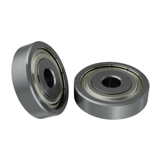 1600-0416-0004 - 1600 Series Non-Flanged Ball Bearing (4mm ID x 16mm OD, 4mm Thickness) - 2 Pack